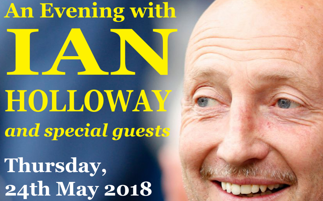 Ian Holloway Tickets an evening with meal